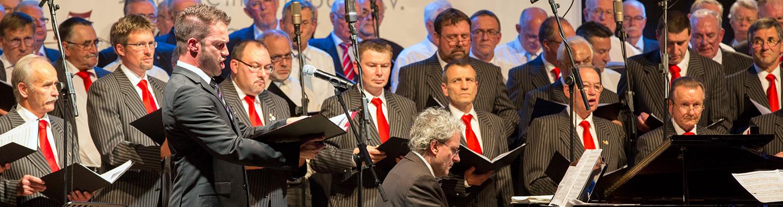 Männerchor beim 150 Jahre Konzert